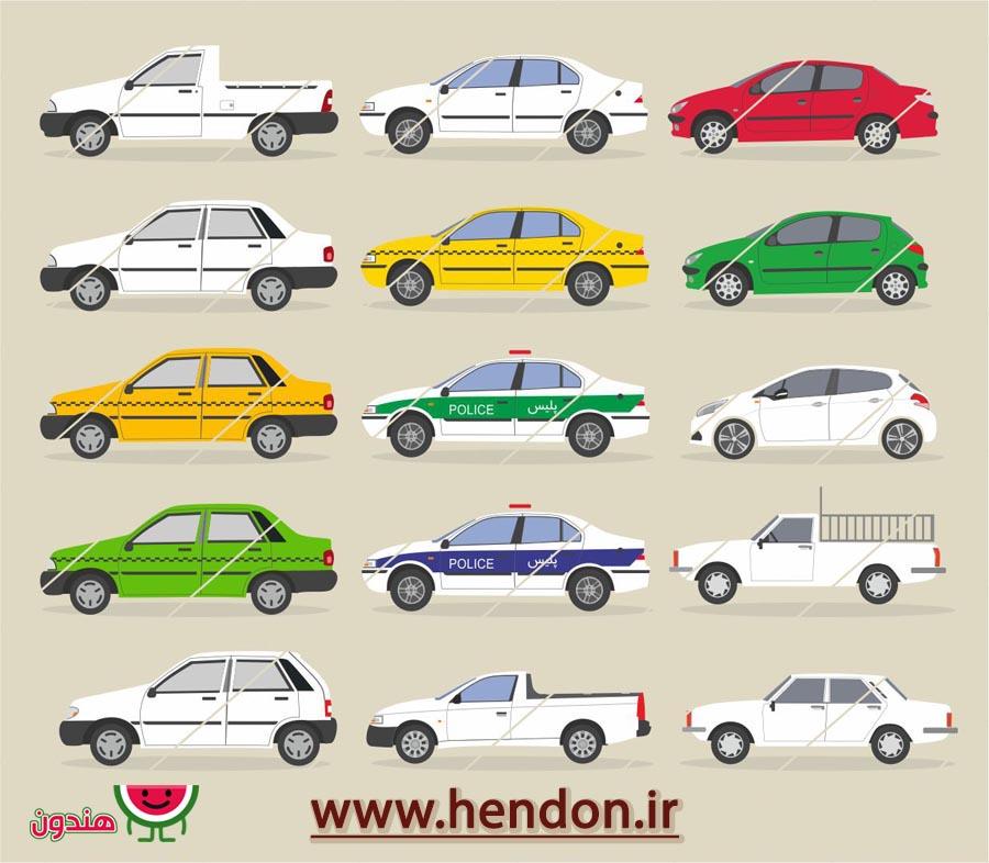 وکتور ماشین های ایرانی