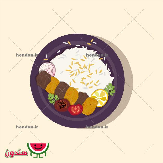 دانلود وکتور چلوکباب بختیاری