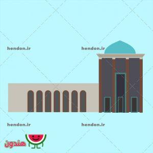دانلود وکتور آرامگاه سعدی