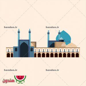 وکتور مسجد شاه اصفهان