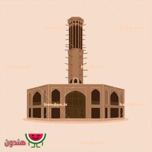 دانلود وکتور باغ دولت آباد