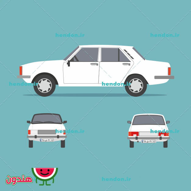 وکتور خودرو پیکان سفید