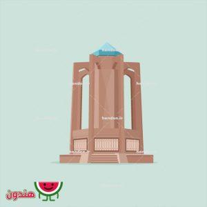 وکتور آرامگاه بابا طاهر